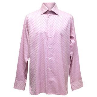 Richard James Savile Row Pink Printed Shirt