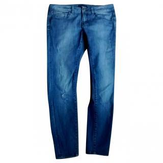 The Kooples short fit hipster skinny crop jeans