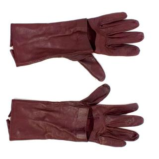 Oxblood Leather Gloves