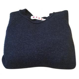 Marni Grey Cashmere And Wool Sweater