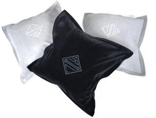 Ralph Lauren grey & black velvet cushion covers