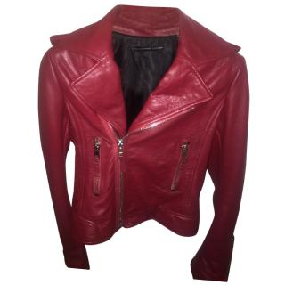 Balenciaga Women's red Classic Biker Jacket