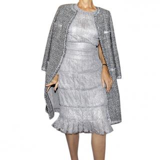 Chanel grey silver dress