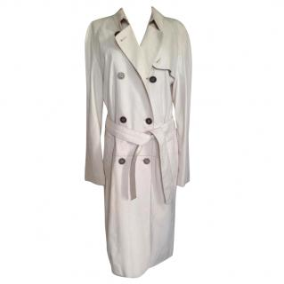 Burberry white soft leather light coat