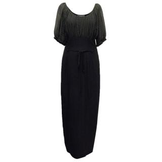 Moschino Couture Black Polka Dot Maxi Dress