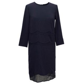 DKNY Navy 3/4 Sleeve Shift Dress