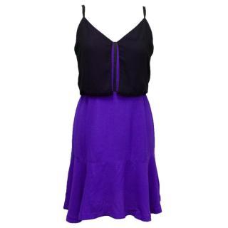 Sandro Black and Blue Mini Dress