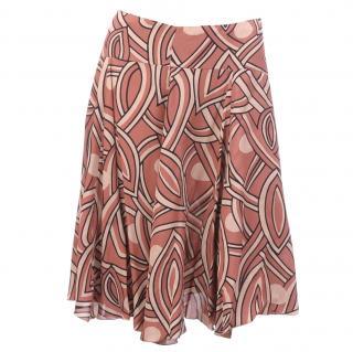 Marni Printed Crepe Skirt