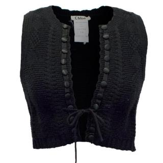 Chloe Black Knitted Gilet