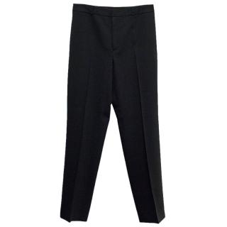 Dolce & Gabbana Black Wide Leg Trousers