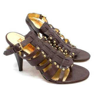 Kors Michael Kors Brown Gladiator Heeled Sandals
