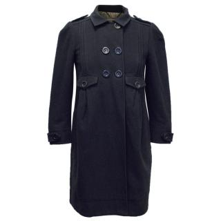 See by Chloe Double-Breasted Navy Coat