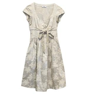 Moschino Cheap and Chic Metallic Silver Tea Dress