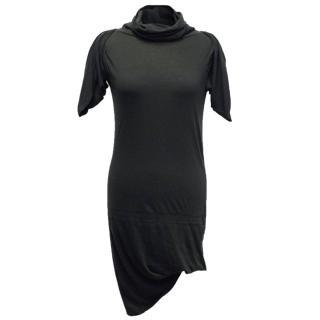 Vivienne Westwood Anglomania Black Roll Neck Dress