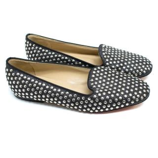 Mauro Grifoni Black Loafers with Silver Studs