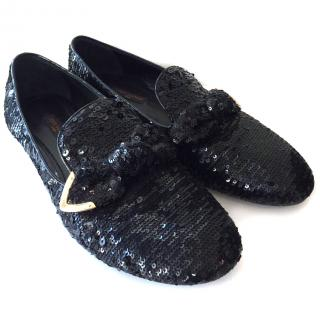 Louis Vuitton Sequin Loafers