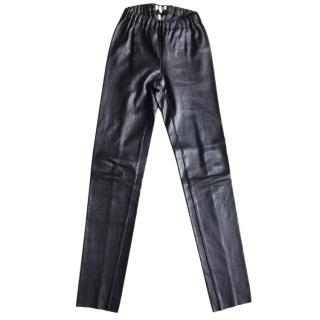 Essentiel Antwerp black leather leggings