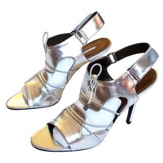NEW Stella McCartney Silver Heels