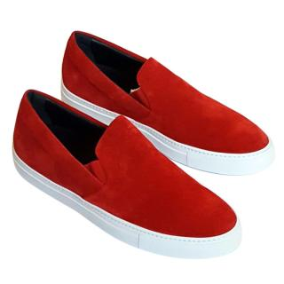 NEW Christopher Kane men's slip on suede trainers