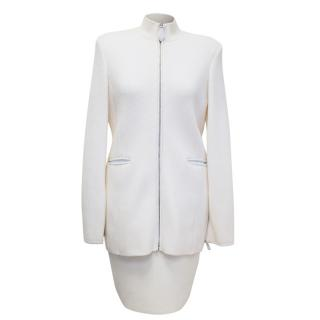 Gianfranco Ferre Cream Wool Two Piece