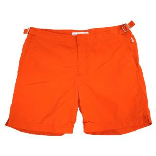 Orlebar Brown 'Bulldog' Mid-Length Red Swim Shorts