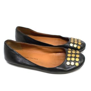 Marc by Marc Jacobs Black Studded Pumps