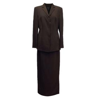 Laurel Chocolate Brown Jacket and Skirt Suit
