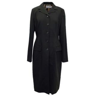 Dolce & Gabbana Knee-Length Black Coat