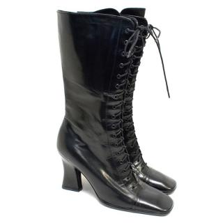 Prada Black 'Kate' Leather Boots