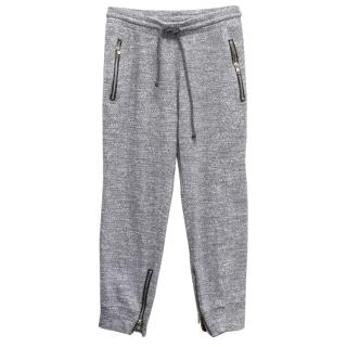 LNA Grey Textured Lounge Pants
