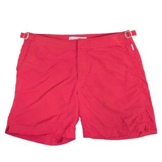 Orlebar Brown 'Bulldog' Mid-Length Pink Swim Shorts