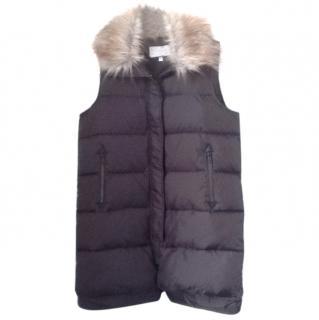 Derek Lam 10 C Faux Fur Sleeveless Parka Coat