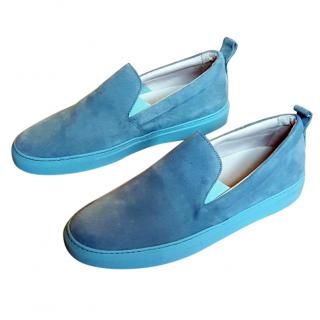 New Christopher Kane slip on suede trainers