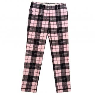 New Alexander McQueen men's checked trouser