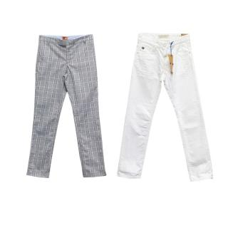 Two Pairs of Trousers by Scotch Shrunk & No Added Sugar