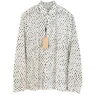 New Burberry Brit cody leaf print shirt