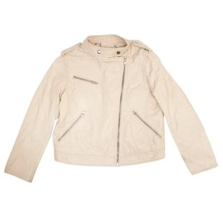 Bonpoint Nude Leather Jacket