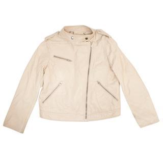 Bonpoint Nude Leather Jacket