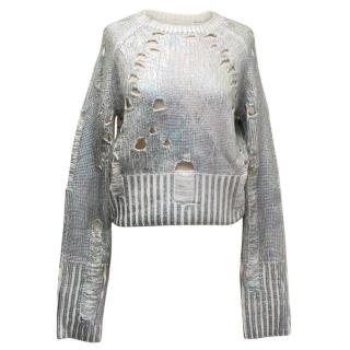 Zoe Jordan Distressed Iridescent Sweater