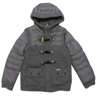 Bark Grey Knitted Duffle Coat