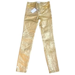 Isabel Marant metallic skinny jeans
