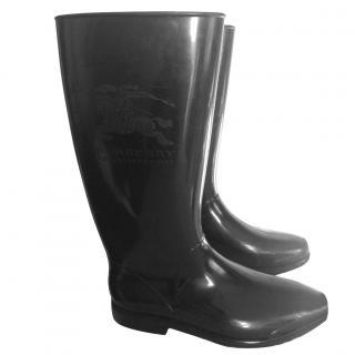 Burberry prorsum black rain boots