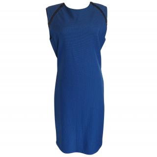 McQ Alexander McQueen blue stretch dress