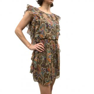 Paisley mini dress by Tibi