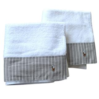 Ralph Lauren Home white towel x2