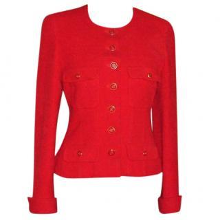 Chanel red tweed jacket