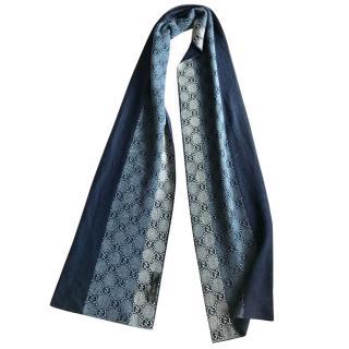 Gucci logo print scarf