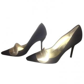 Roger Vivier Black and Gold Shoes
