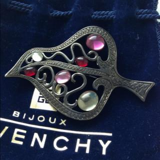 Givenchy Gripoix Cabochons Brooch New