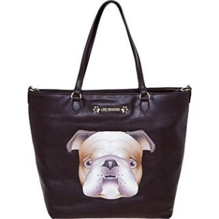 Moschino Brown Puppy Tote Bag